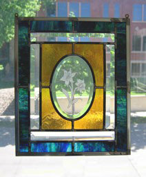 Sample of stained glass piece